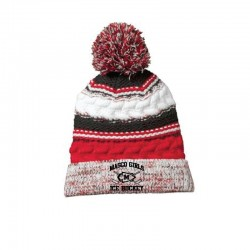 Masco Girls Hockey Pom Pom Team Beanie