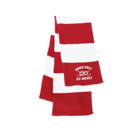 Masco Girls Hockey Rugby Striped Knit Scarf