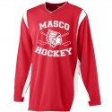 MYH Wicking Long Sleeve Warm Up Shirt - Red