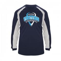 Triton Lacrosse Navy & White Wicking Shirt